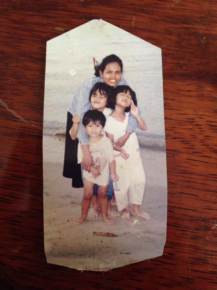 My younger sister, brother and I in our childhood:)