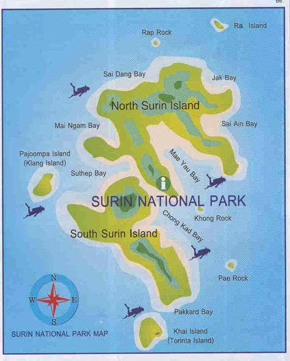 Surin-Islands-Map