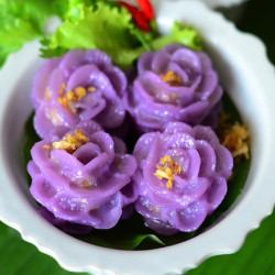 """Chaw Muang"" (Steamed Dumplings with Fish Meat Filling)"